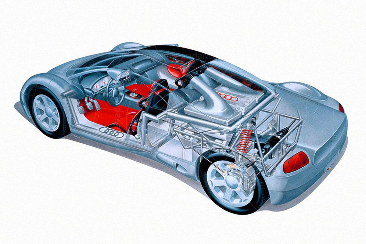Audi Avus cutaway Pic: Audi   Audi Avus cutaway