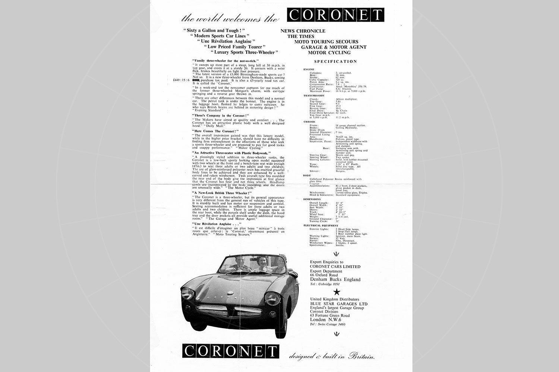 The Coronet sales brochure Pic: magiccarpics.co.uk | The Coronet sales brochure