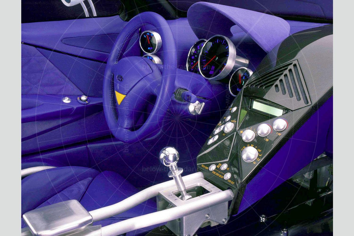 Ford GT90 dashboard Pic: Ford   Ford GT90 dashboard