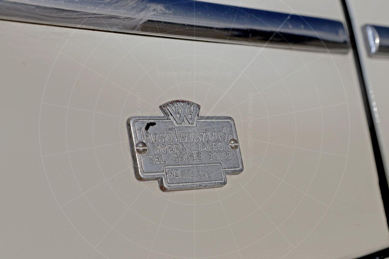 PV445 Valbo drophead coupé coachbuilder's plate Pic: magiccarpics.co.uk | PV445 Valbo drophead coupé coachbuilder's plate