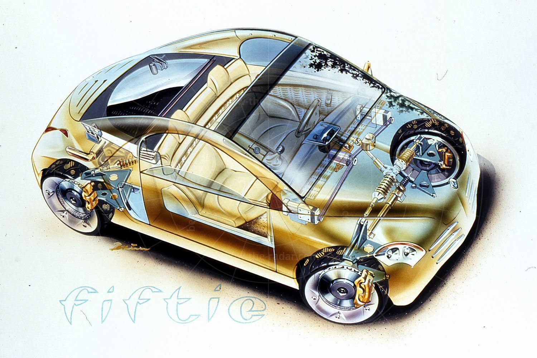 Renault Fiftie cutaway Pic: Renault   Renault Fiftie cutaway