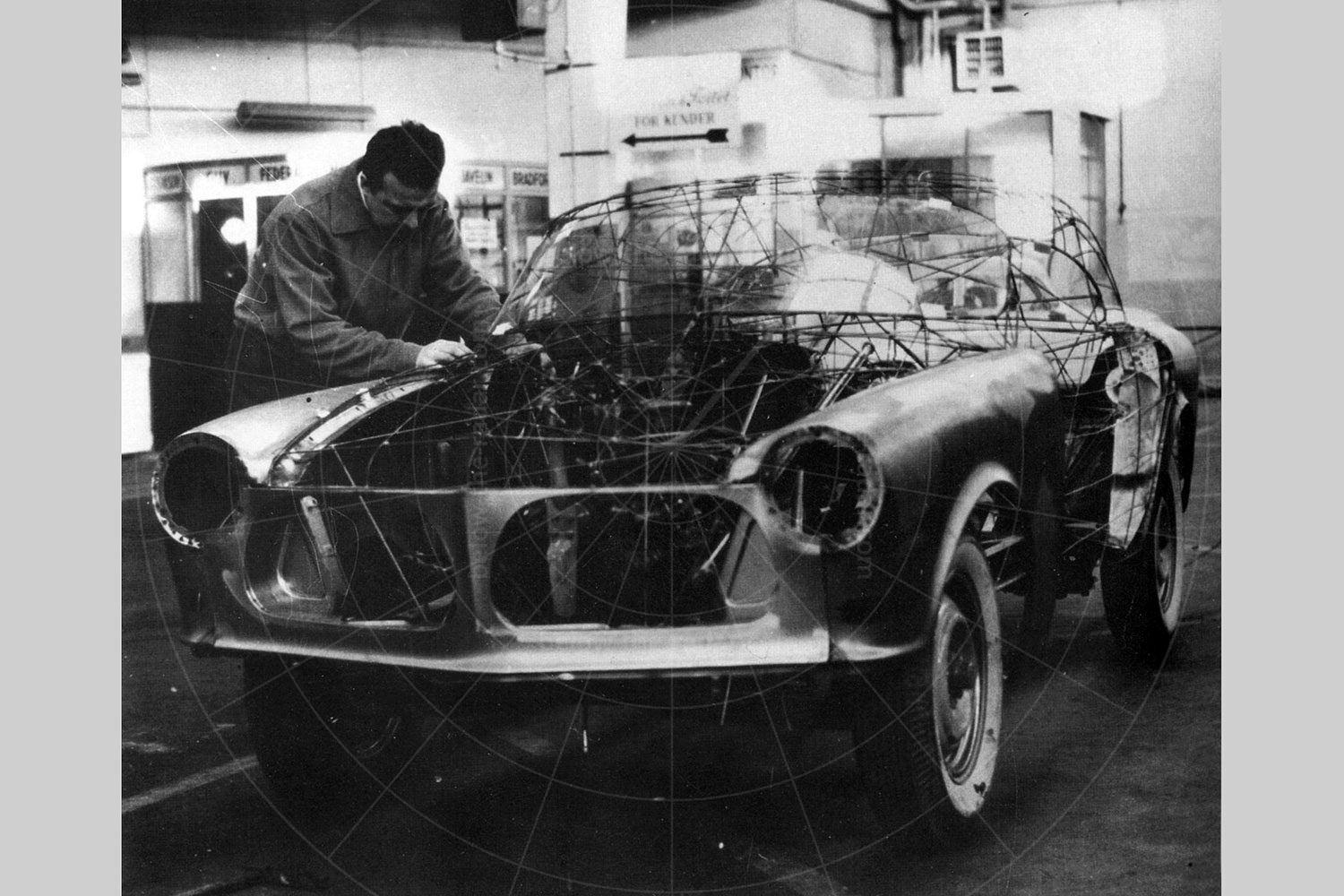 The Sommer Coupé under construction Pic: sommersautomobilemuseum.dk   The Sommer Coupé under construction