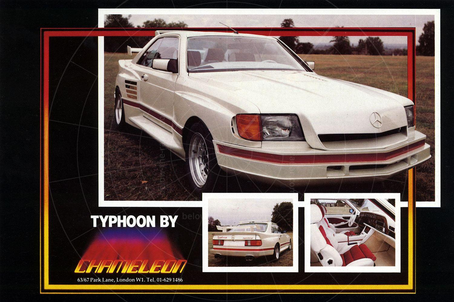 Mercedes Chameleon Typhoon brochure