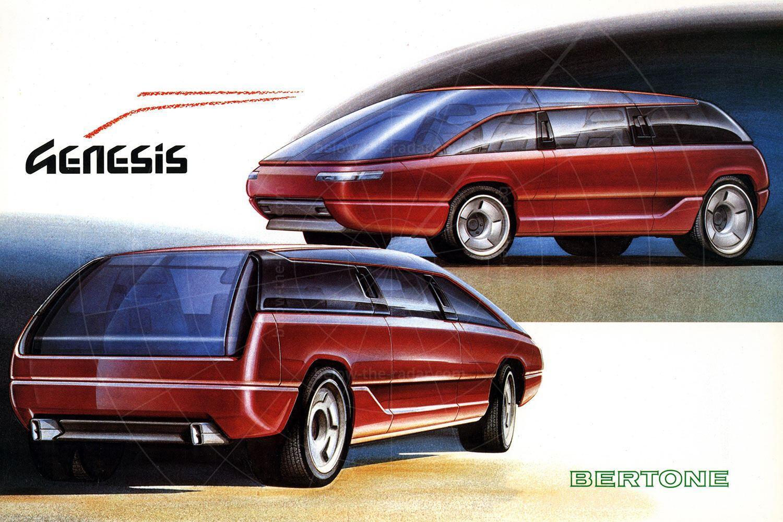 Bertone Genesis design sketch Pic: magiccarpics.co.uk | Bertone Genesis design sketch