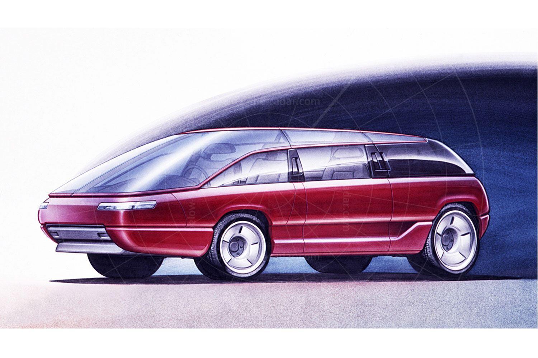Bertone Genesis: V12 MPV | Bertone Genesis design sketch
