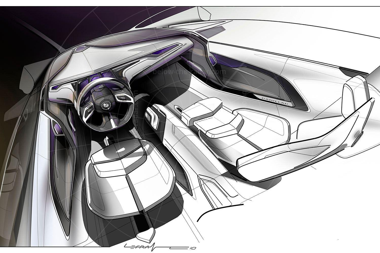 Cadillac Urban Luxury Concept interior sketch Pic: GM   Cadillac Urban Luxury Concept interior sketch
