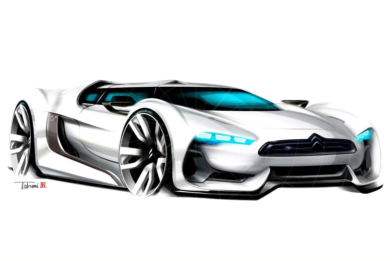 Citroen GT concept sketch Pic: Citroen   Citroen GT concept sketch