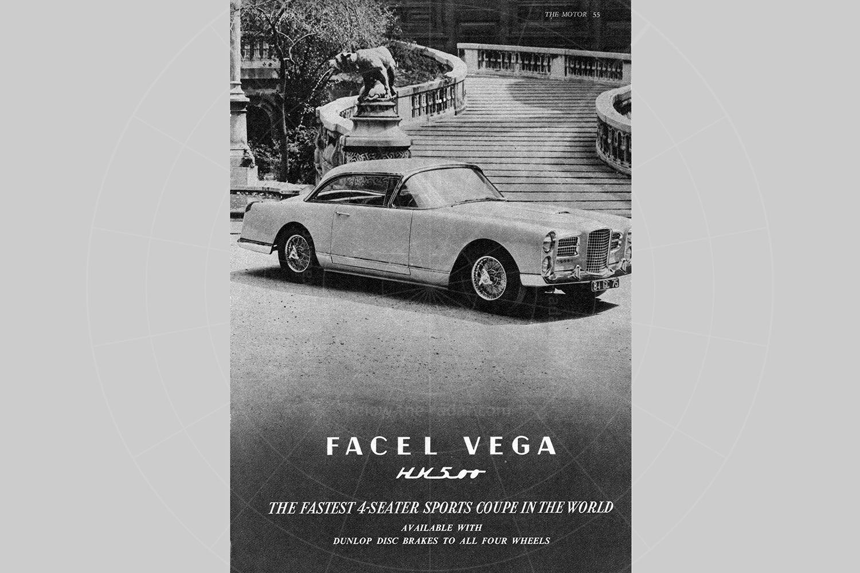 Facel Vega HK500 advert Pic: magiccarpics.co.uk | Facel Vega HK500 advert