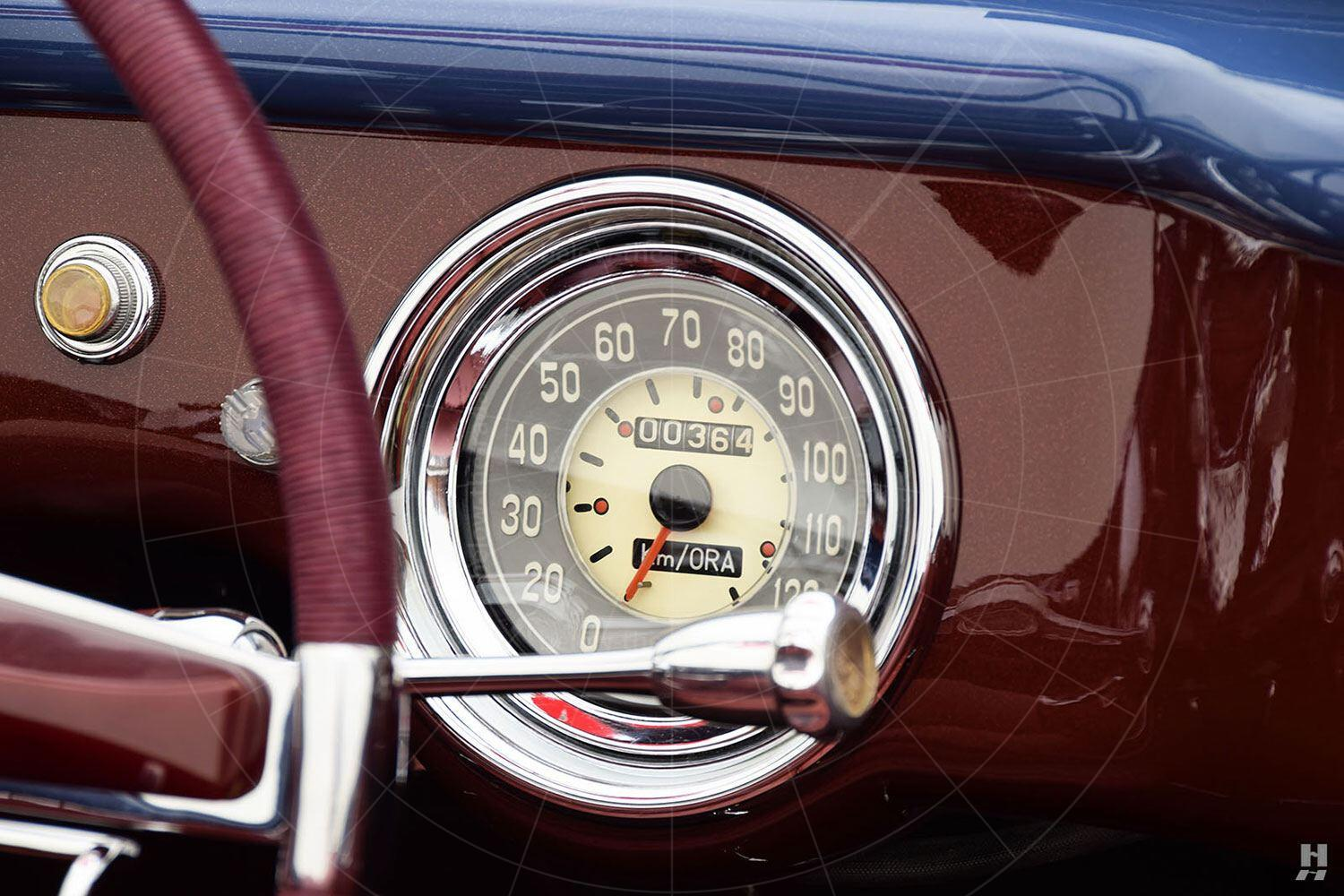 Fiat 1100 cabriolet by Allemano - dashboard Pic: Hyman Ltd | Fiat 1100 cabriolet by Allemano - dashboard