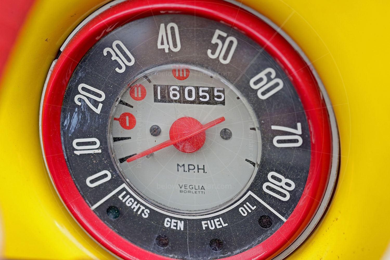 Fiat Gamine speedometer Pic: magiccarpics.co.uk | Fiat Gamine speedometer