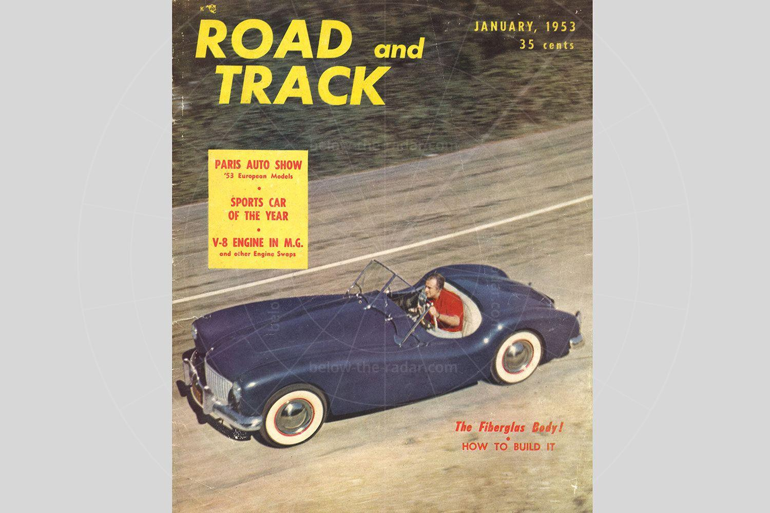 Glasspar G2 on the front cover of Road & Track Pic: Hyman Ltd | Glasspar G2 on the front cover of Road & Track