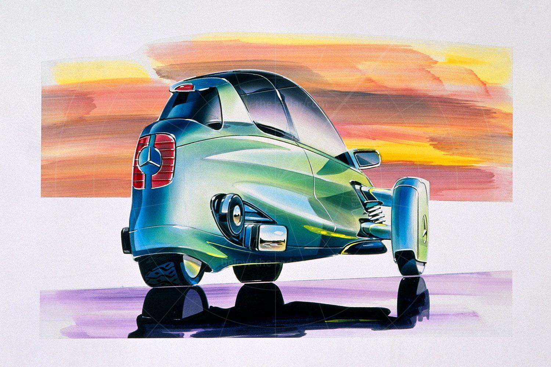 Mercedes F300 Life-Jet sketch Pic: Mercedes-Benz | Mercedes F300 Life-Jet sketch