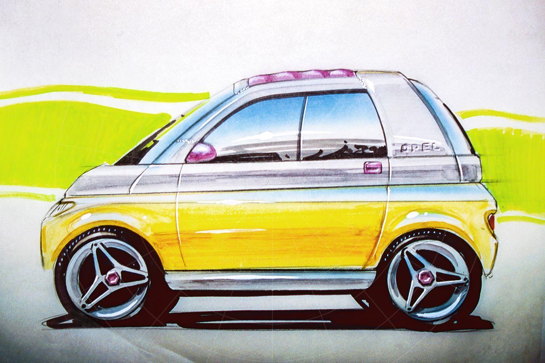 Opel Maxx design sketch Pic: GM | Opel Maxx design sketch