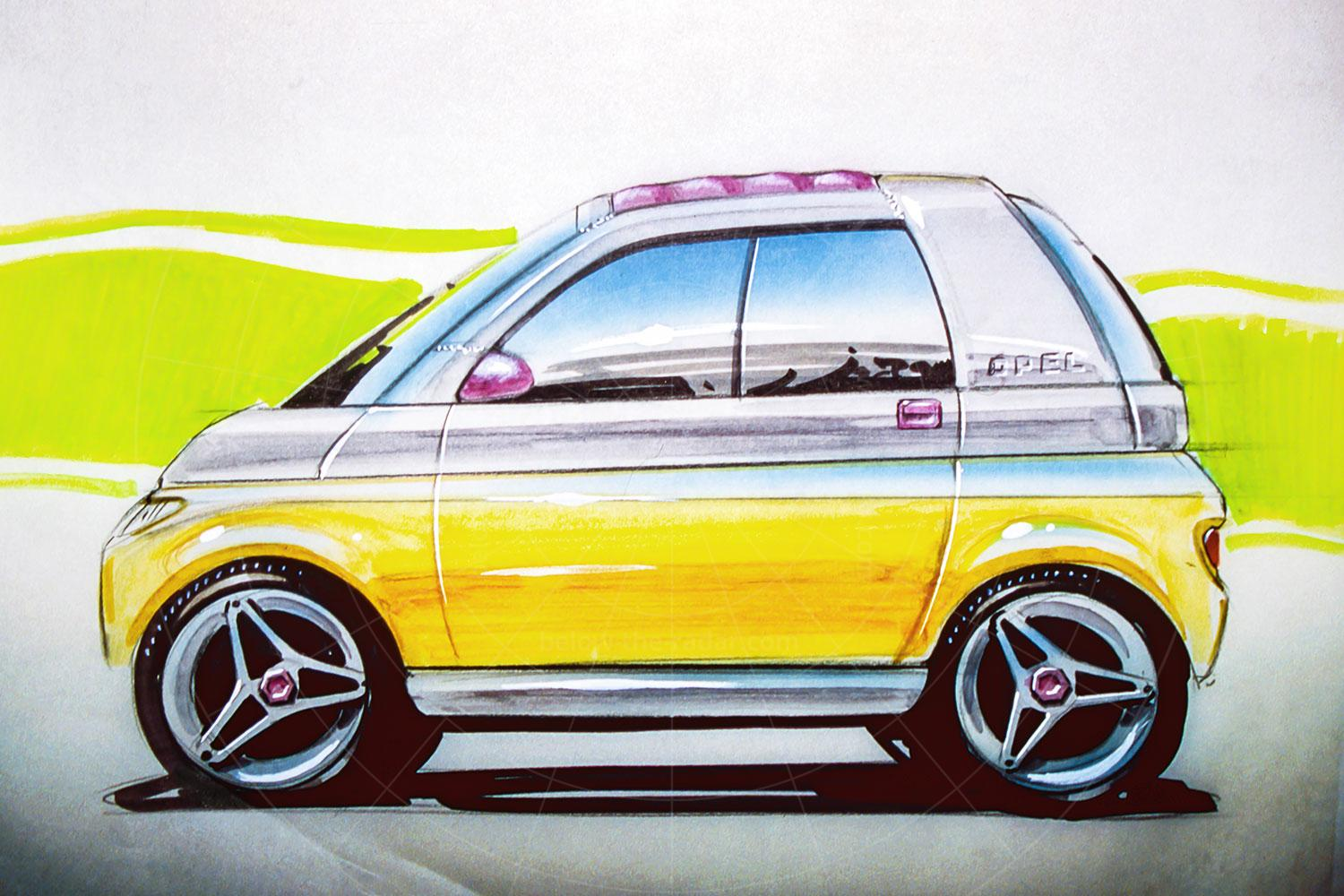 Opel Maxx design sketch