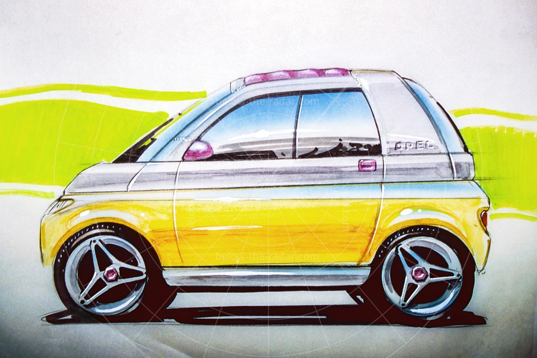 Opel Maxx design sketch