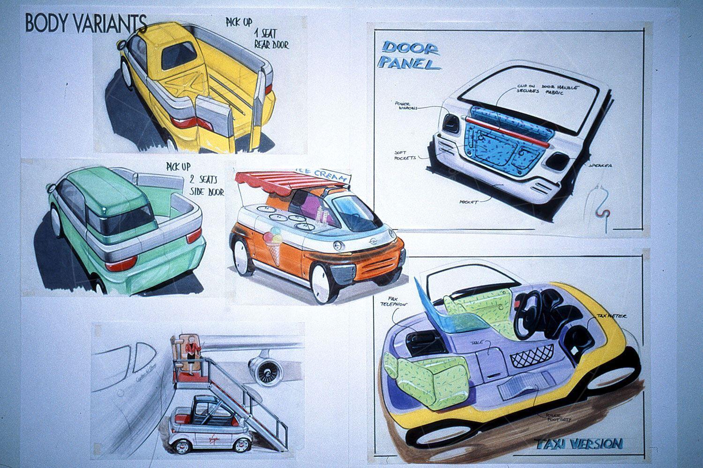 Opel Maxx design sketches Pic: GM | Opel Maxx design sketches