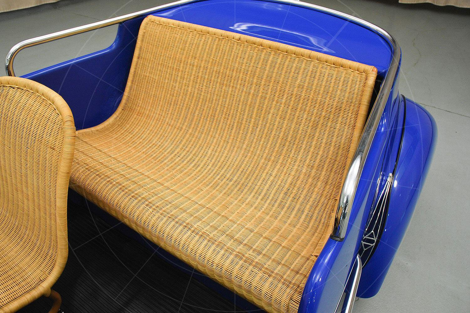 Renault 4CV Jolly rear seat Pic: Hyman Ltd | Renault 4CV Jolly rear seat