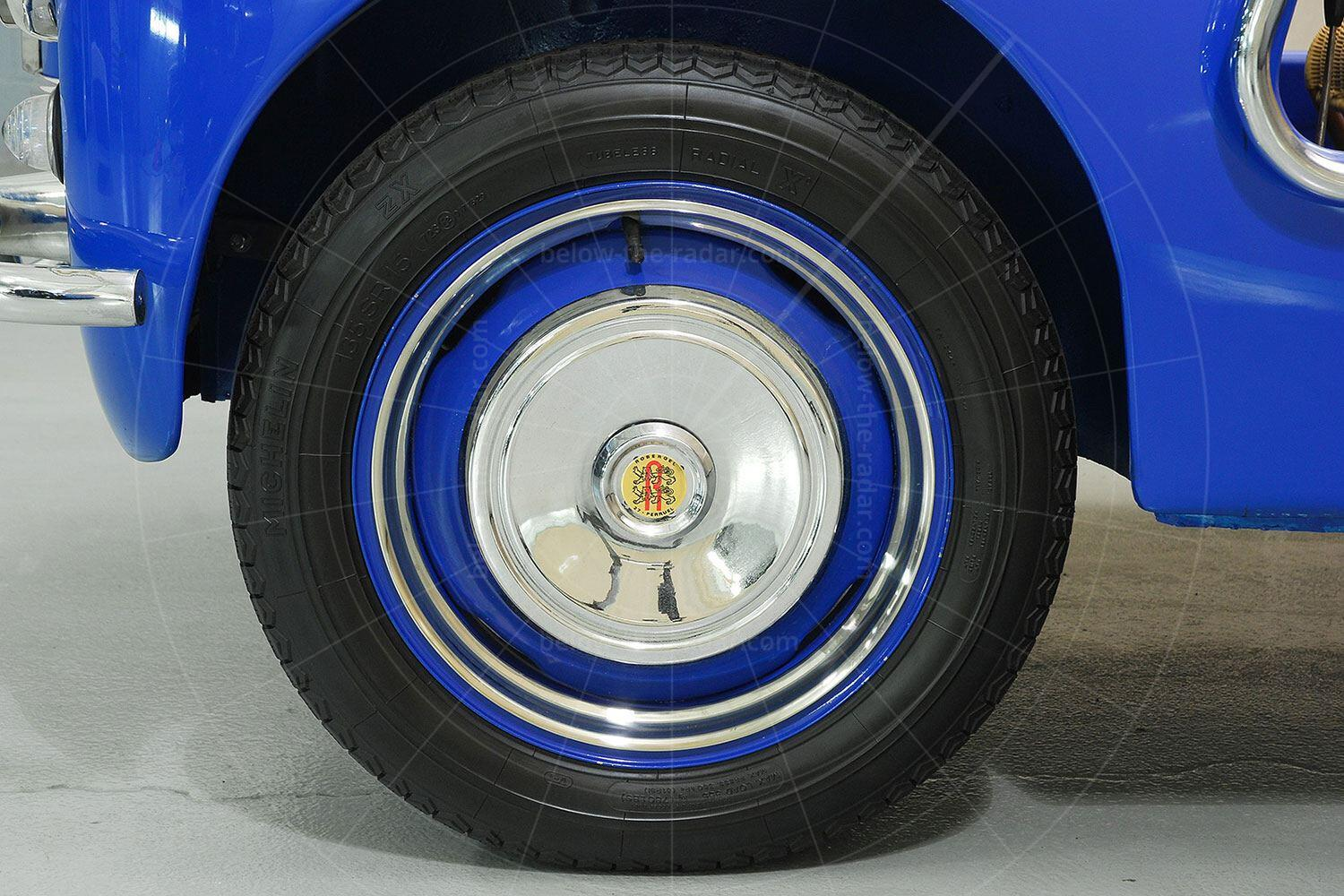 Renault 4CV Jolly front wheel Pic: Hyman Ltd | Renault 4CV Jolly front wheel
