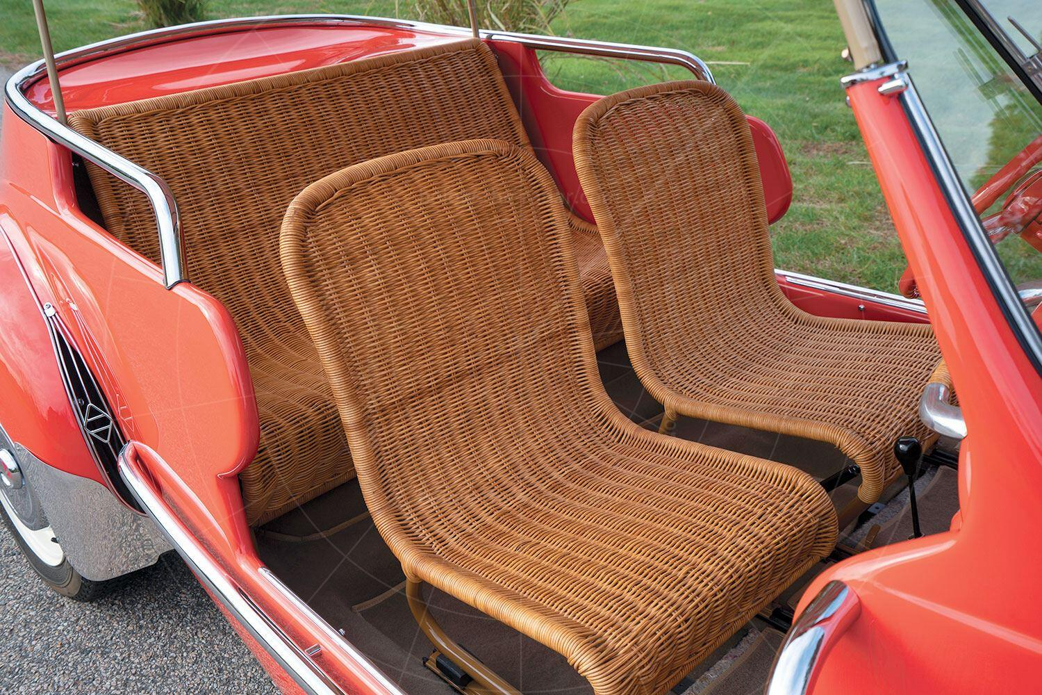 Renault 4CV Jolly interior Pic: RM Sotheby's   Renault 4CV Jolly interior