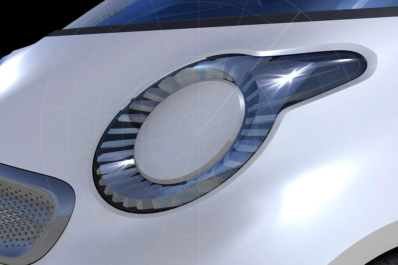 Smart ForSpeed concept headlight Pic: Smart | Smart ForSpeed concept headlight
