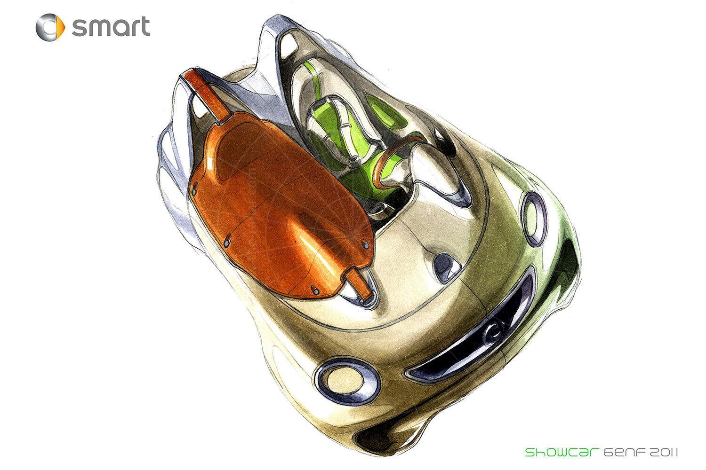 Smart ForSpeed concept design sketch Pic: Smart | Smart ForSpeed concept design sketch