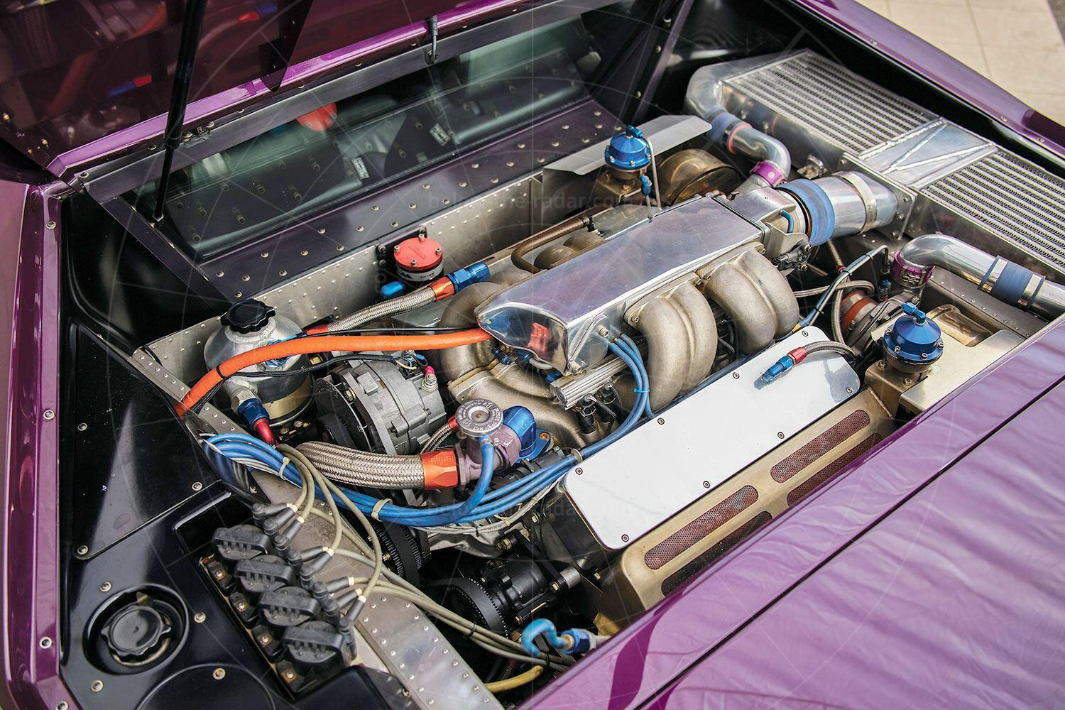 Vector W8 engine bay Pic: RM Sotheby's   Vector W8 engine bay