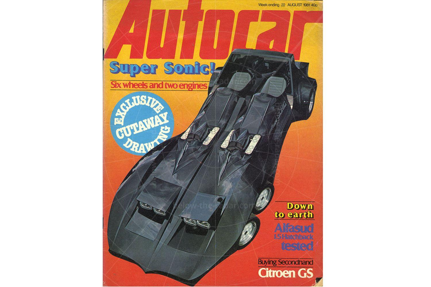 Wolfrace Sonic on the front cover of Autocar Pic: magiccarpics.co.uk | Wolfrace Sonic on the front cover of Autocar