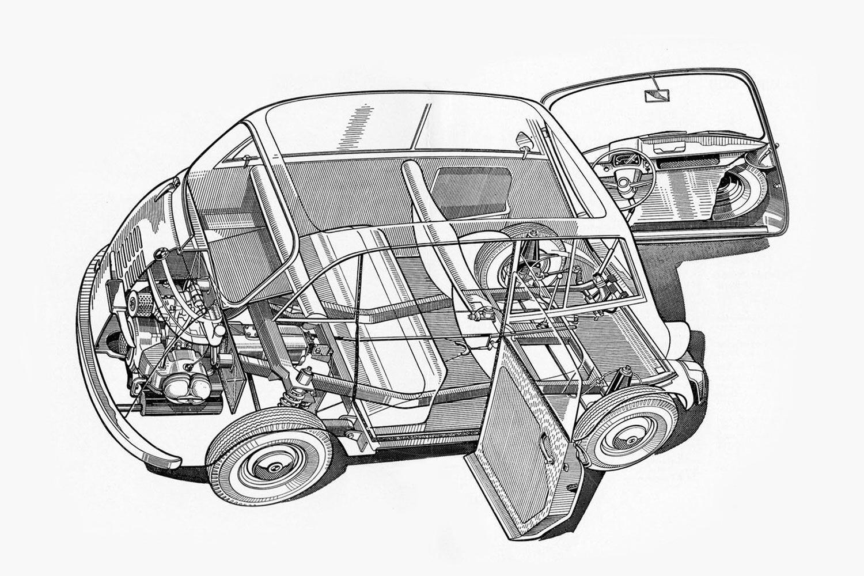 BMW 600 cutaway Pic: BMW | BMW 600 cutaway
