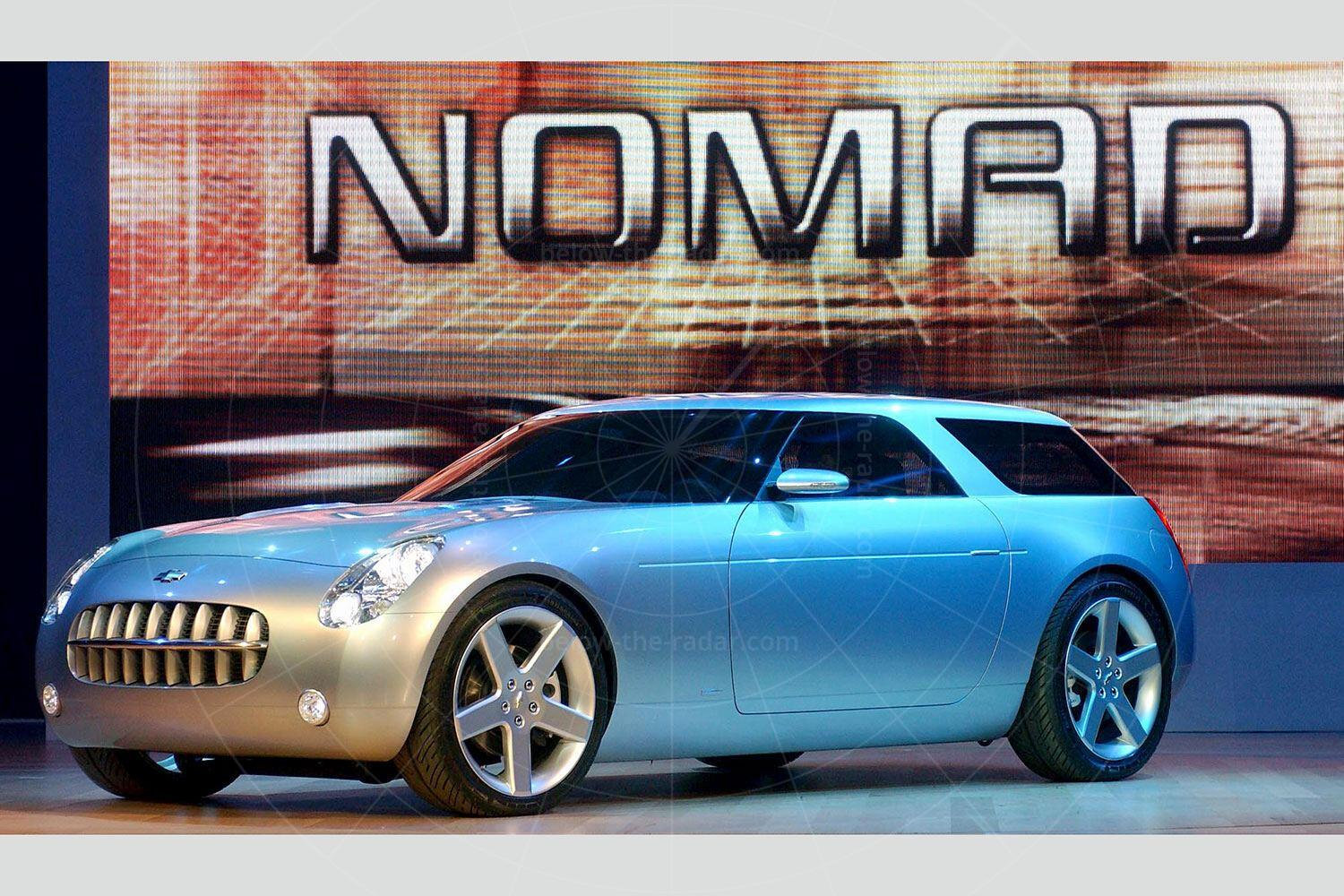 The 2004 Chevrolet Nomad concept being unveiled at the 2004 Detroit motor show Pic: GM | The 2004 Chevrolet Nomad concept being unveiled at the 2004 Detroit motor show