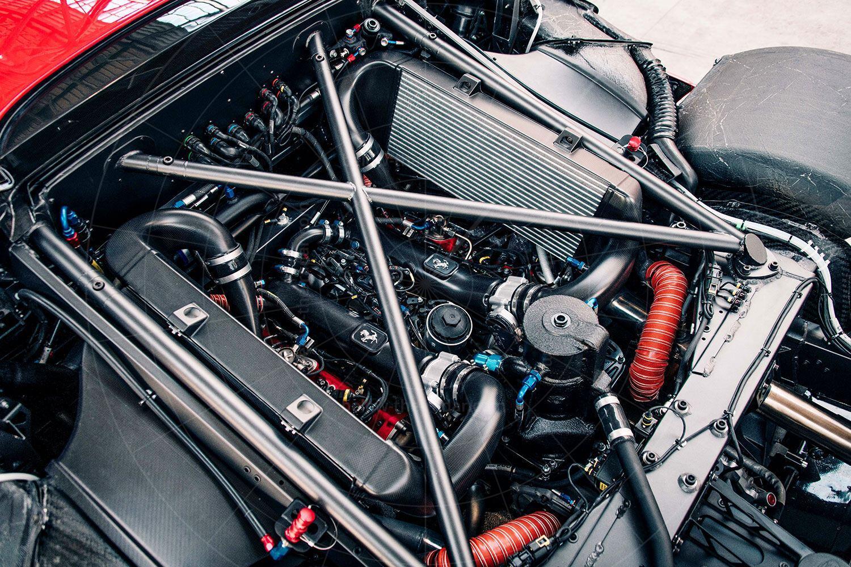 Ferrari P80/C engine bay Pic: Ferrari | Ferrari P80/C engine bay