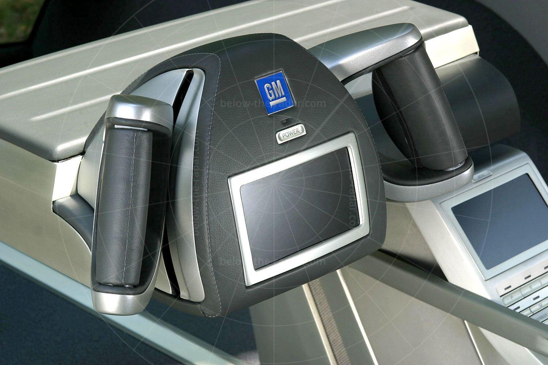 GM Hy-Wire steering 'wheel' Pic: General Motors | GM Hy-Wire steering 'wheel'