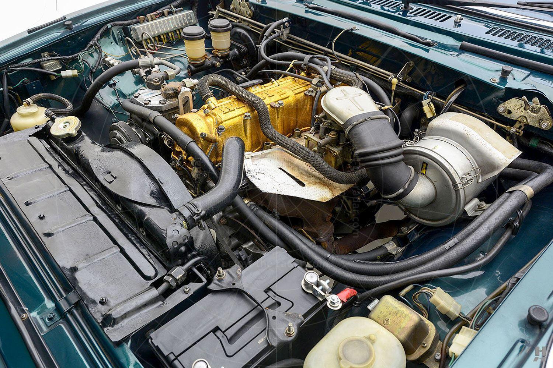 Isuzu 117 Coupé Pic: Hyman Ltd   Isuzu 117 Coupé engine bay
