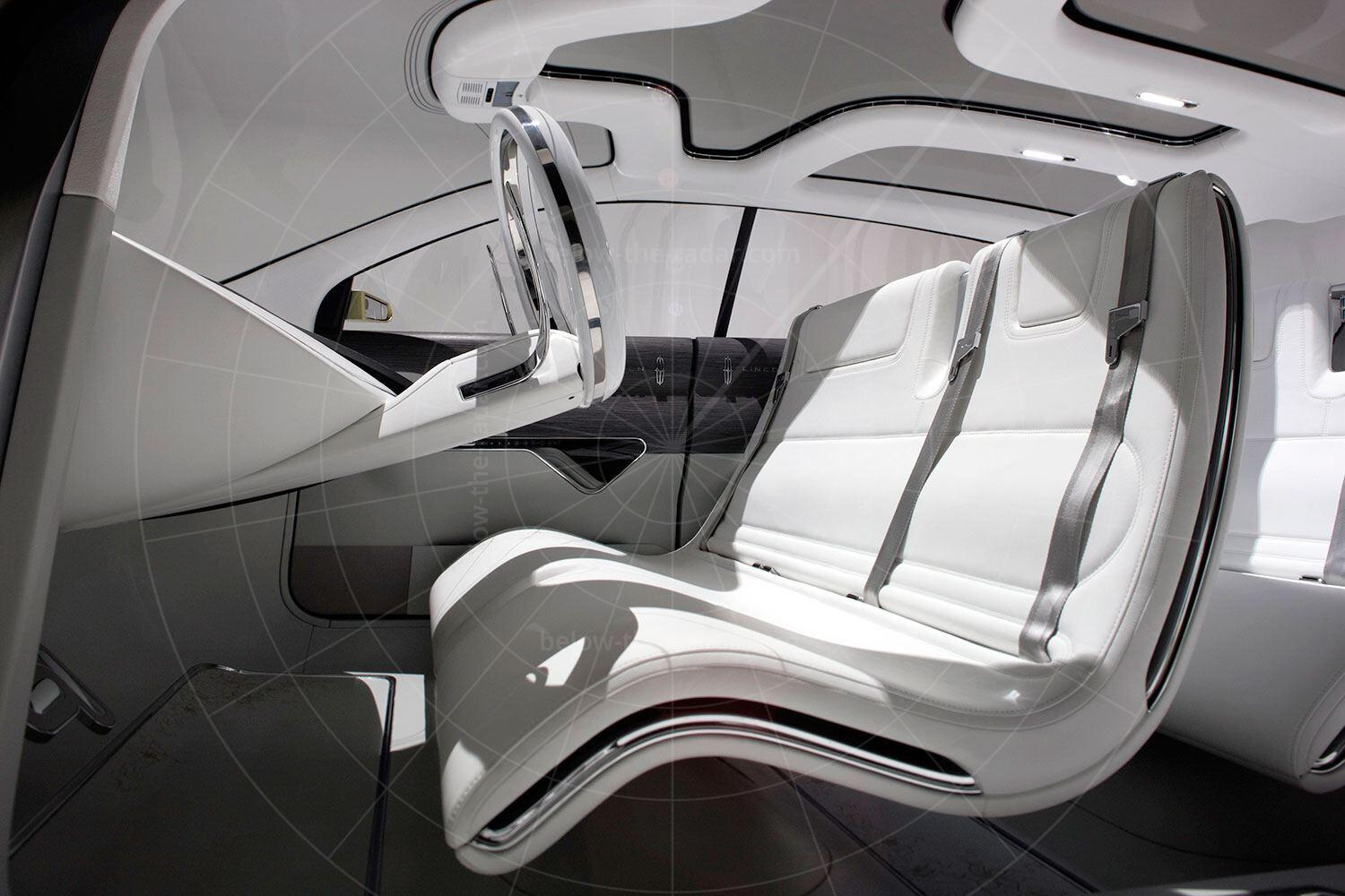 Lincoln C Concept front seat Pic: Lincoln | Lincoln C concept front seat
