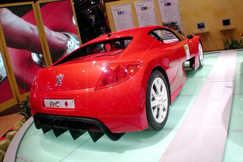 Peugeot RC concepts at the 2002 Paris Salon Pic: magiccarpics.co.uk | Peugeot RC Diamonds at the 2002 Paris Salon