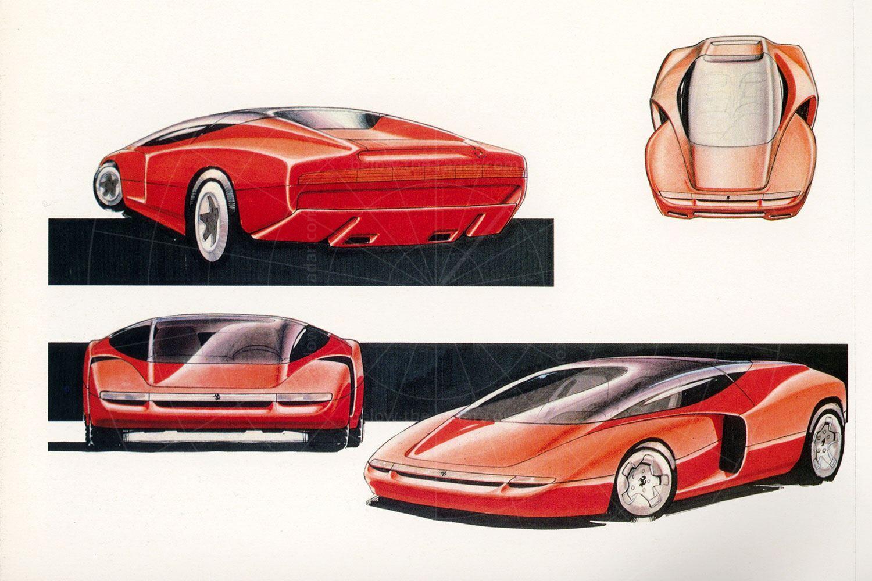 Pininfarina Mythos early sketches Pic: magiccarpics.co.uk | Pininfarina Mythos early sketches