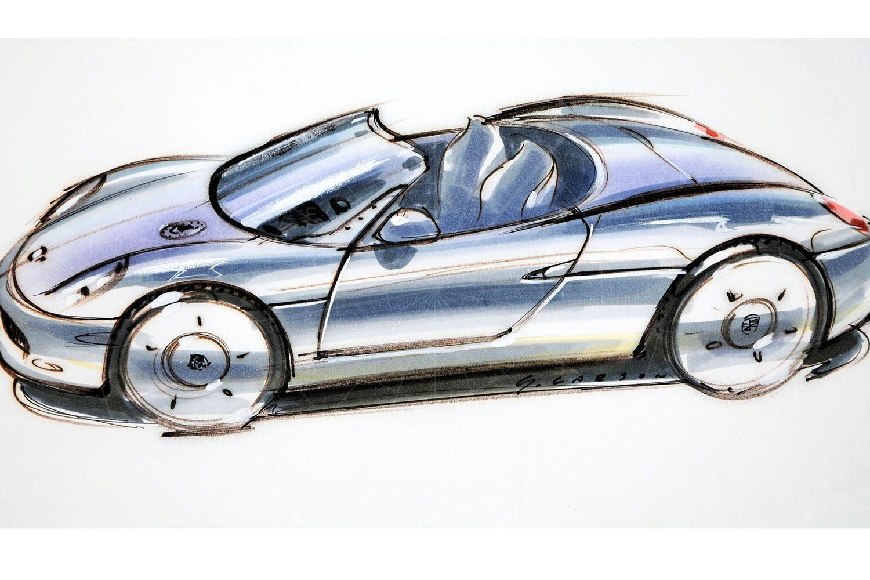 Porsche Boxster concept design sketch Pic: Porsche | Porsche Boxster concept design sketch
