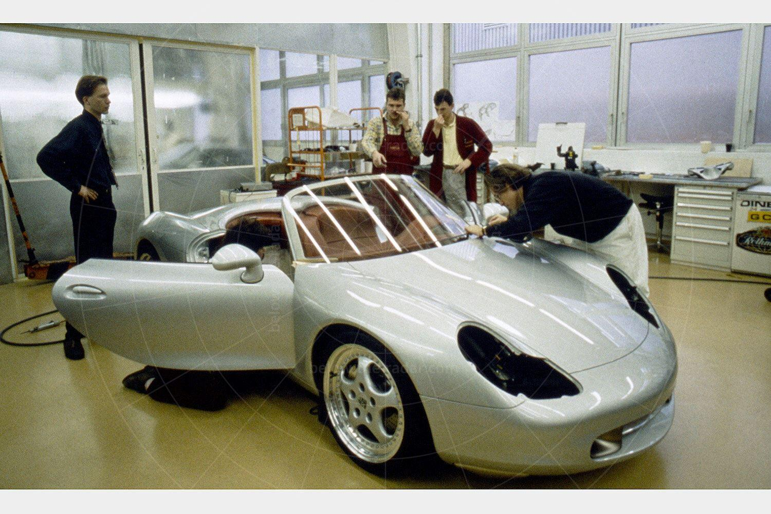 Porsche Boxster concept being built Pic: Porsche | Porsche Boxster concept being built
