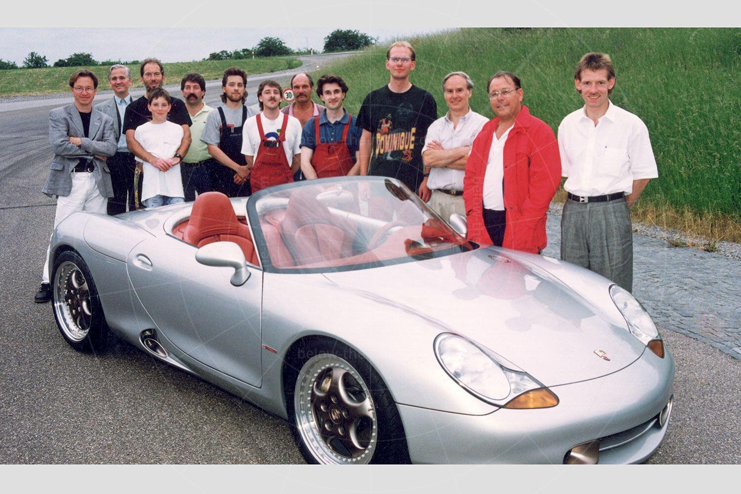 The engineering team behind the Porsche Boxster concept Pic: Porsche | The engineering team behind the Porsche Boxster concept