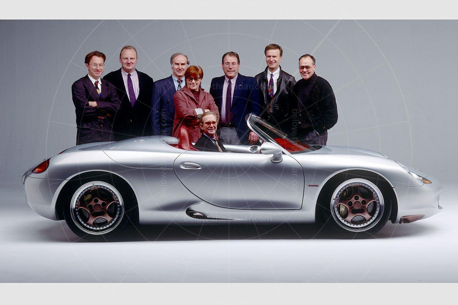 The design team behind the Porsche Boxster concept Pic: Porsche | The design team behind the Porsche Boxster concept