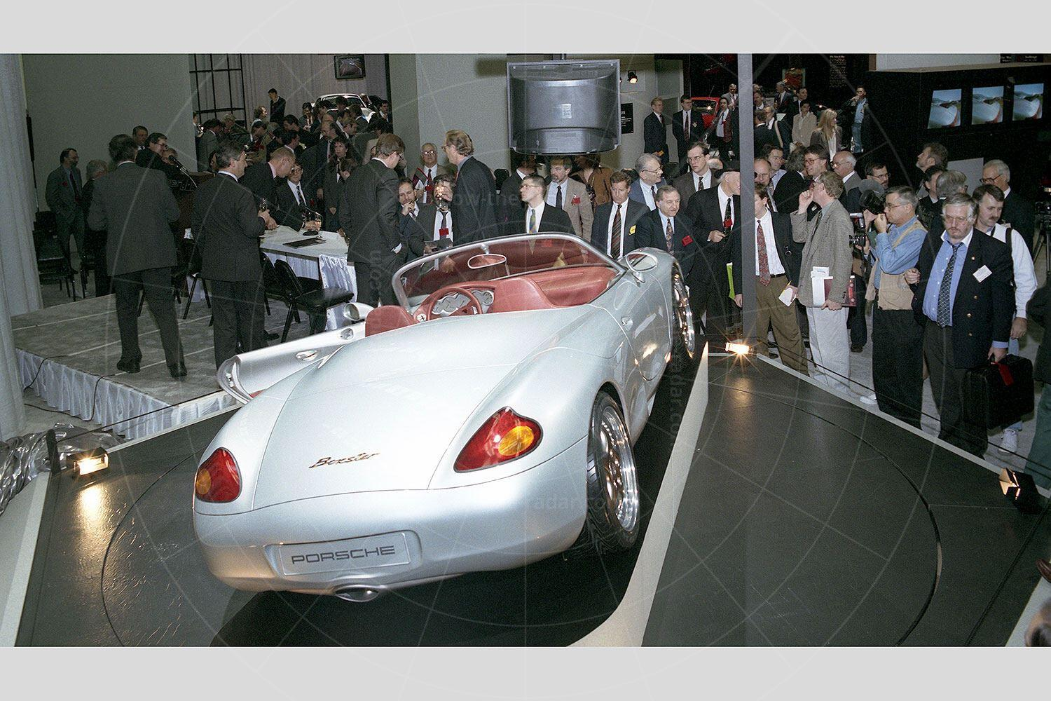 Porsche Boxster concept making its debut at the 1993 Detroit motor show Pic: Porsche | Porsche Boxster concept making its debut at the 1993 Detroit motor show