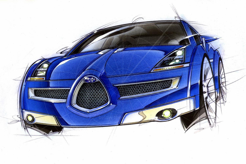 Subaru B11S design sketch Pic: Subaru   Subaru B11S design sketch