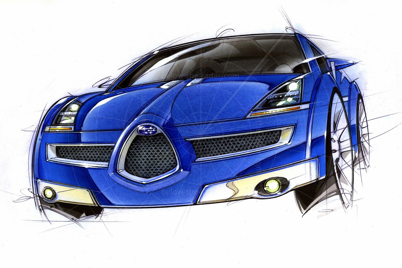 Subaru B11S design sketch