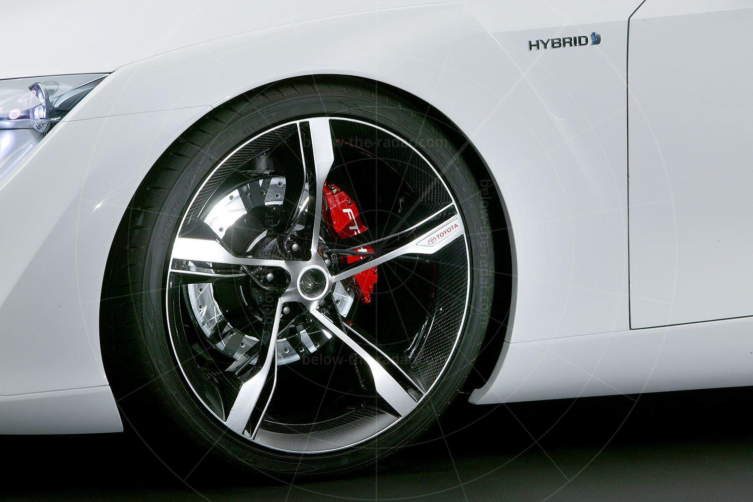 Toyota FT-HS concept front wheel Pic: Toyota   Toyota FT-HS concept front wheel