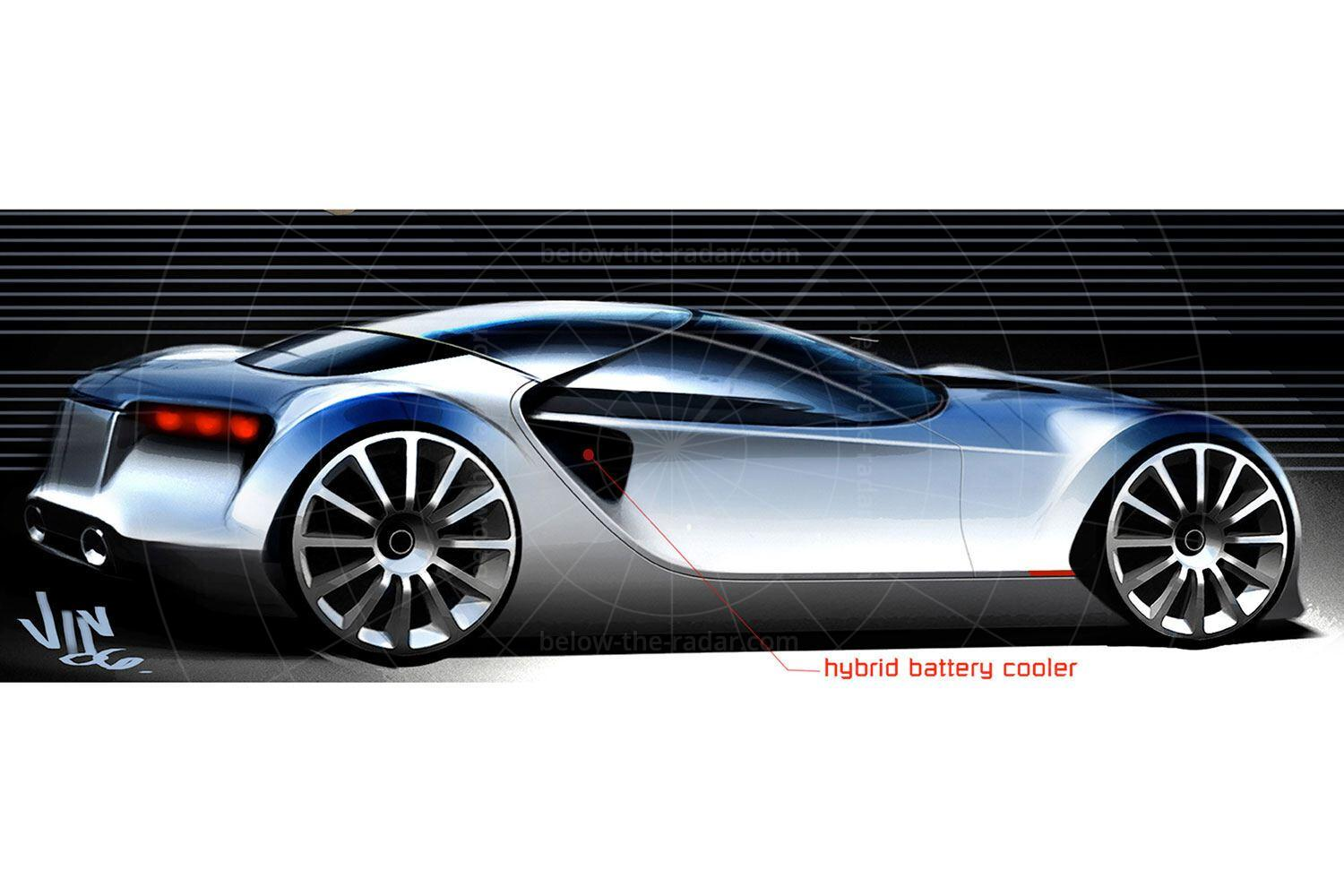 Toyota FT-HS concept design sketch Pic: Toyota   Toyota FT-HS concept design sketch