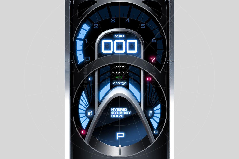 Toyota FT-HS concept instrumentation Pic: Toyota | Toyota FT-HS concept instrumentation