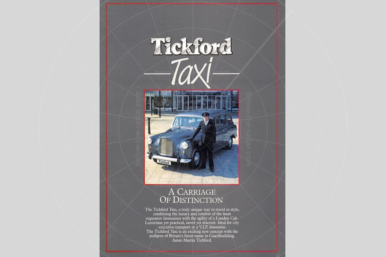 The Tickford Taxi brochure Pic: magiccarpics.co.uk   The Tickford Taxi brochure