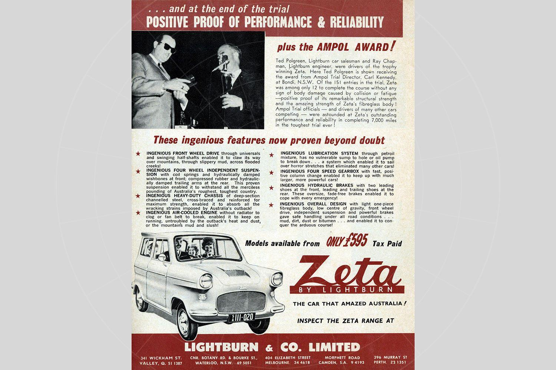 Lightburn Zeta Runabout brochure Pic: magiccarpics.co.uk | Lightburn Zeta Runabout brochure