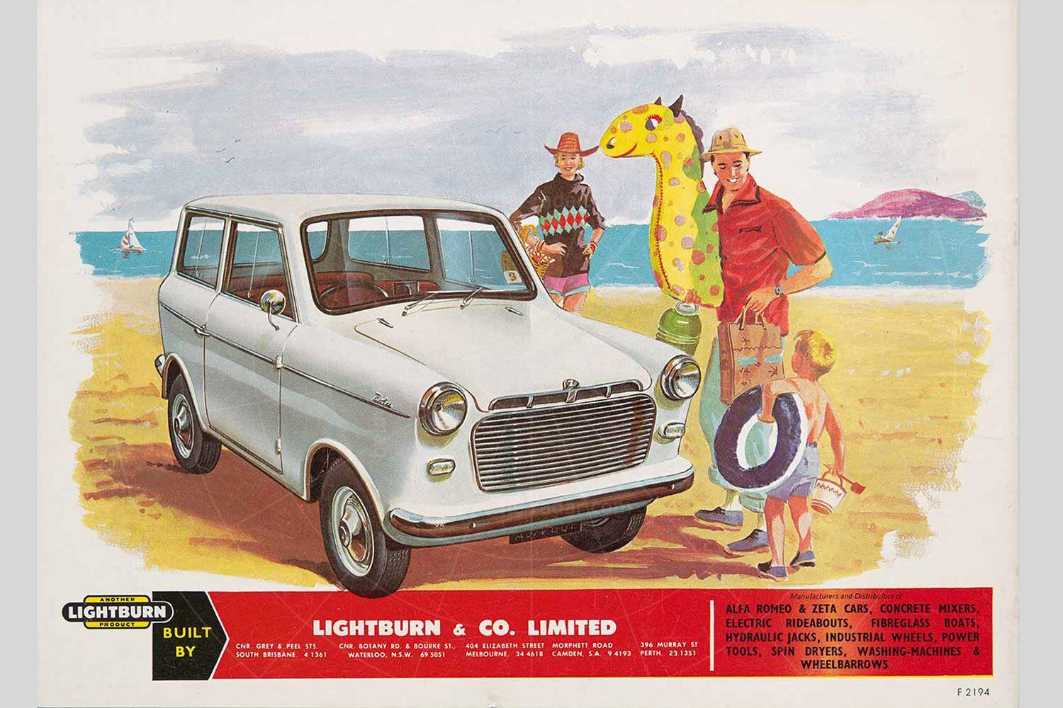 Lightburn Zeta Runabout (facelifted) brochure Pic: magiccarpics.co.uk | Lightburn Zeta Runabout brochure