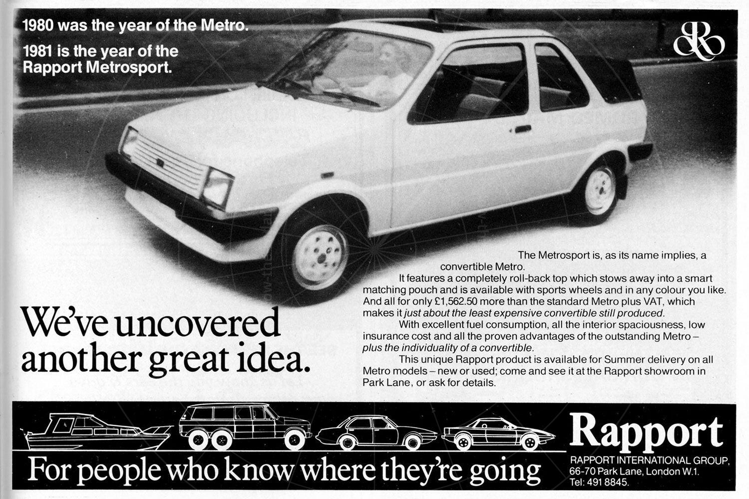 Rapport Metrosport advert Pic: magiccarpics.co.uk | Rapport Metrosport advert