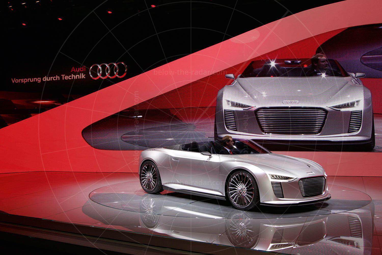 Audi e-tron Spyder making its debut Pic: Audi | Audi e-tron Spyder making its debut